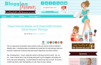 Lindsey G. at Blogging Mamas is erasing her stretch marks with ElastinMD