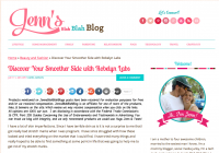 Amanda at Jenn's Blah Blah Blog Discovered Her Smoother Side with Robelyn's Elastin3 & ElastinMD