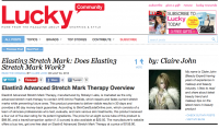 Claire John Touts Elastin3 for Lucky Magazine Readers