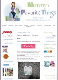 Mommy's Favorite Things Gives Robelyn's Stretch Mark Treatments Five Stars!